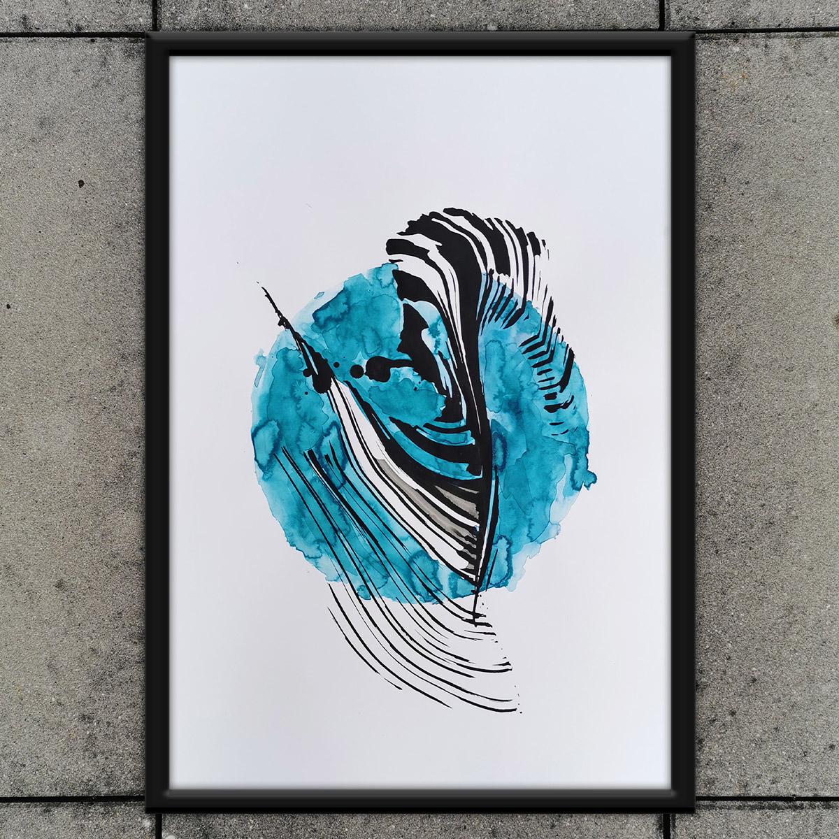 Abstrakte Kunst für Alle! Dekorativ, polyamörös, sensibel, niedlich - nur echt mit okkulter Aura!